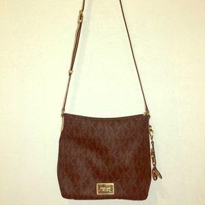 Michael Kors Bags - Cross body never worn brown and cream